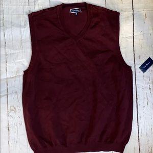 Men's club room cotton sweater vest
